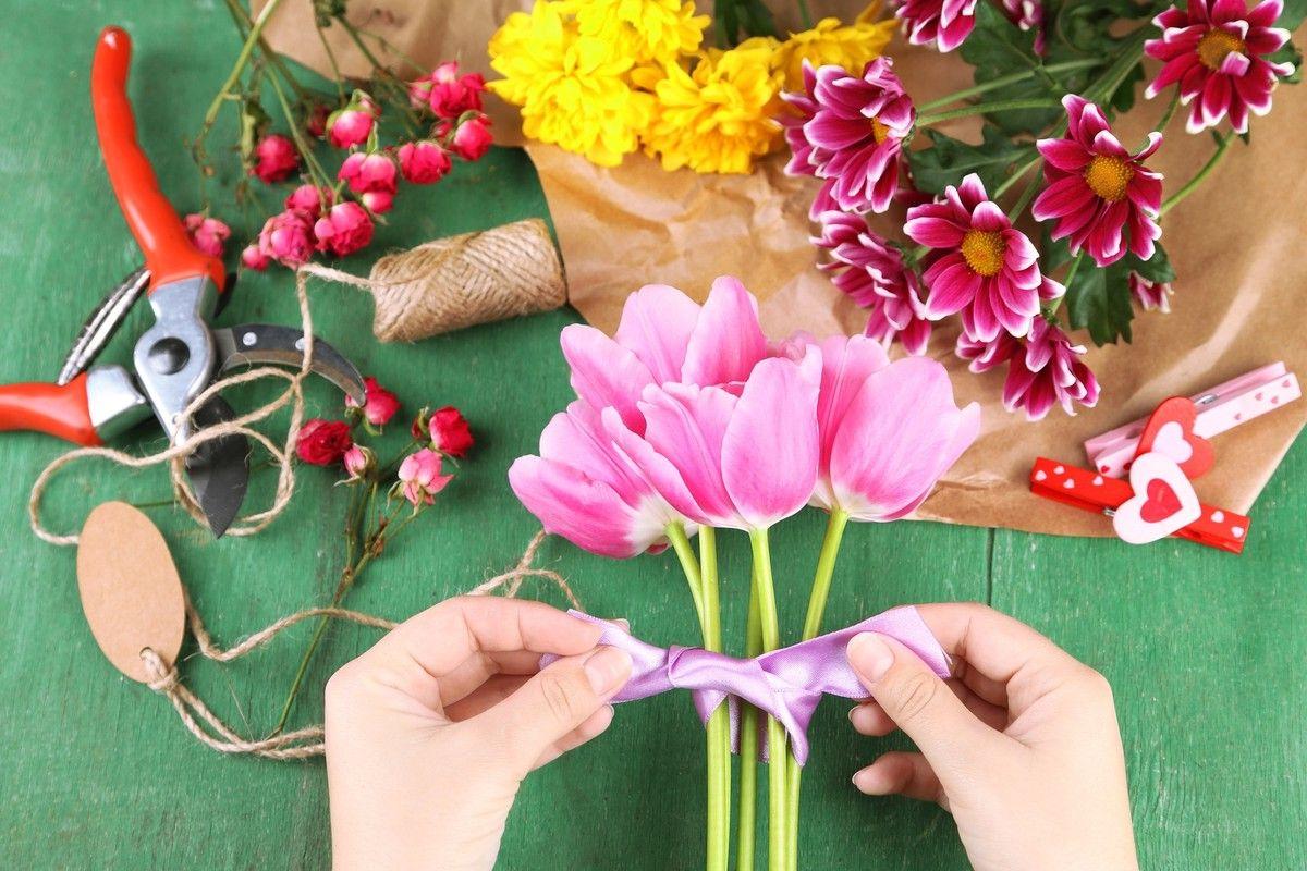 Обучение на курсах всех видов услуг флористов